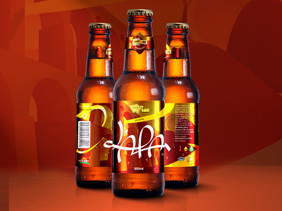 L'APA Beer graphic design bottle brewery package label cerveja beer lapa apa illustration logo