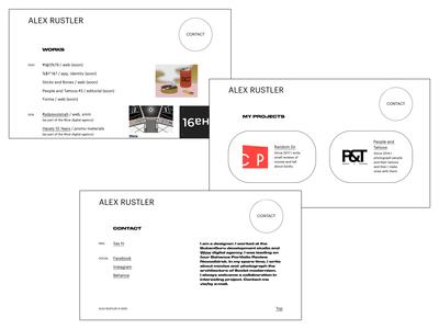 Personal page brutalism grid web clean portfolio shape