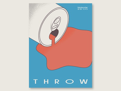 """Blankposter """"Throw"""" gradient shape throw colour blankposter"""