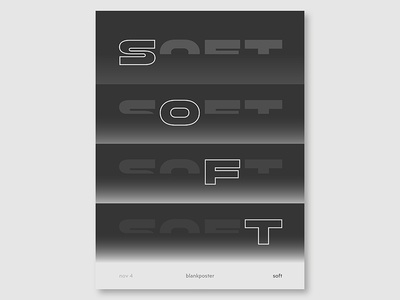 """Blankposter """"Soft"""" type shape gradient poster soft colour blankposter"""