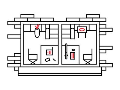 Window web portfolio grid illustration design color clean