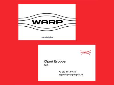 WARP Business cards branding web portfolio illustration grid design color clean