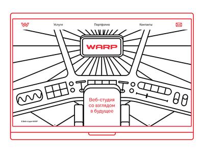 WARP Website branding web portfolio illustration grid design color clean