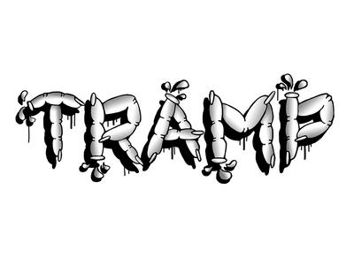 Tramp portfolio clean oldschool style old black illustration