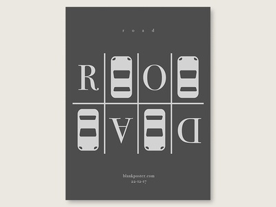 """Blankposter """"Road"""" type road shape poster love flat gradient colour blankposter"""