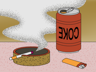 Dirty coke dirty shape gradient design illustration