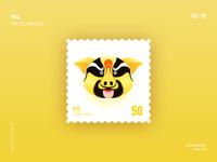 Pig yellow 2x