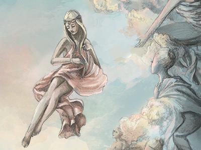 The mermaid rising nautical mermaid storybook fairytale