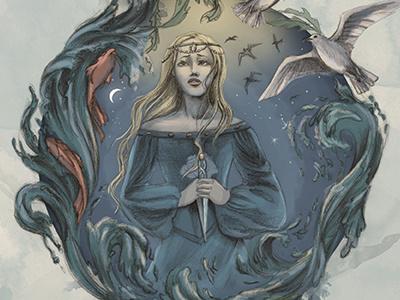 The mermaid's dilemma mermaid nautical little mermaid illustration