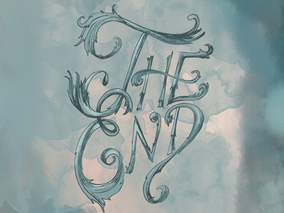 The End Lettering hand lettering illustration typography type