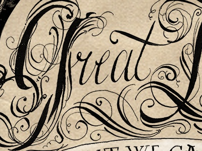 Great Love Quote lettering hand-drawn lettering calligraphy