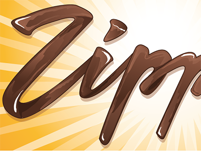 Chocolate type lettering hand-drawn lettering type