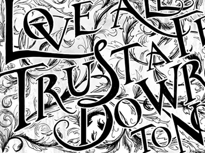 Shakespeare Quote 2 hand lettering illustration typography type