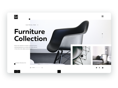 Furniture website concept
