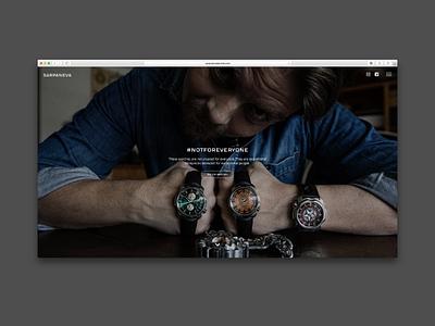 Sarpaneva Watches watches finland helsinki website ui design ux design responsive design web design