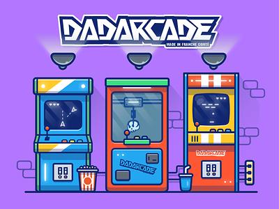 Arcade Bar🎮🕹💀👾 controller logo icon illustration old joystick console game retro arcade machine bartop arcade