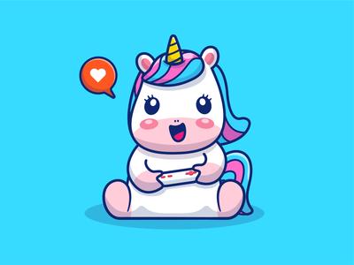 Unicorn Gaming!! 🦄🎮😁😁