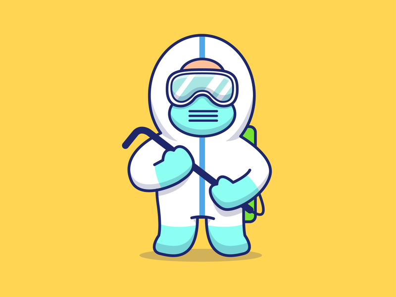 Thank you for all medical personnels in our country ☺️❤️😽 hygiene alcohol antiseptic cute icon illustration logo character cartoon medical mask virus coronavirus corona health doctor people man disinfection
