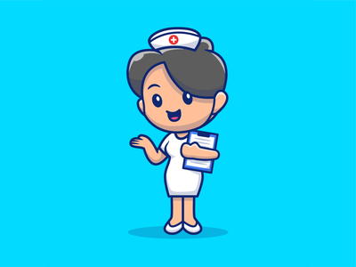 Thank you for all medical personnels in our country ☺️❤️😽 uniform sick patient healthcare help cure girl cartoon character cute logo icon illustration doctor female woman hospital nursing nursery nurse