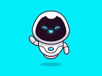 robots!  🤖🤖🤖 science artificial intelligence computer future machine futuristic cyborg robotic modern happy cute logo mascot logo vector icon illustration cartoon mascot technology robot