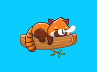 wake me up when this year ends 😴 💤💤 lazy cartoon logo character mascot cute puppy dog corgi fish penguin koala piggy pig red panda panda pet animals animal sleep