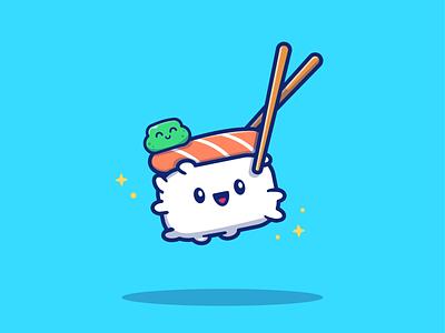 sushi lovers!! 🍣🍣 fresh meal roll sushi roll restaurant asian rice fish salmon seafood character kawaii cute logo icon illustration nigiri soy chopsticks sushi