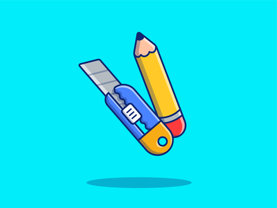 there are two types of people in this world..... ✏️ wood educational tool graphite office vector flat minimal logo icon illustration drawing education school writing sharpener cutter sketch sharp pencil