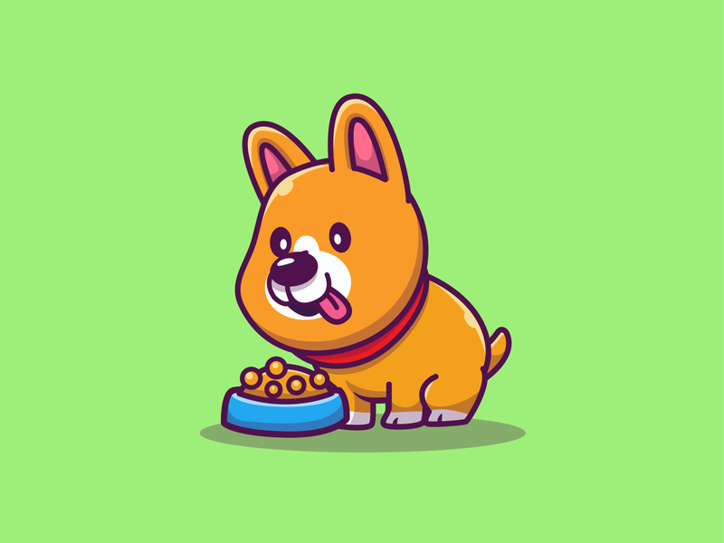 midget corgi 😂🐶 welsh food eat logo icon illustration mascot character animal doggy pet cute jump run sleep pee play puppy corgi dog