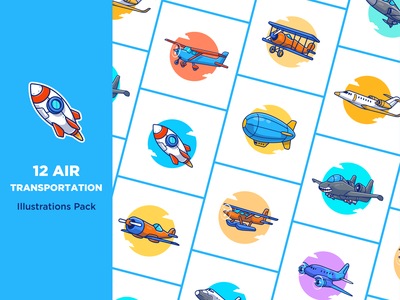 Air Tranportation 🚀✈️🛫🛩️ jet flight sky fly travelling travel logo icon illustration airline vehicle ship aircraft balloon rocket transportation transport plane airplane air