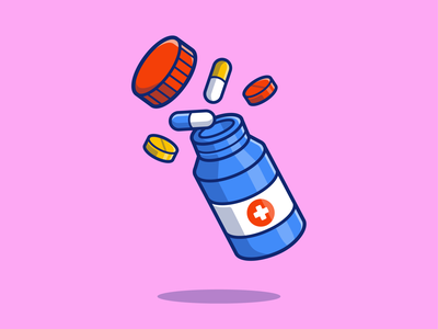 medicine 💊💉🩺🌿 science dose illness hospital doctor medication drug prescription pharmacy care healthcare medical syringe icon illustration vitamin health pills tablet medicine