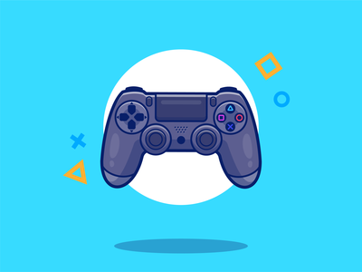 ps4 🎮😻 digital gamepad gaming video entertainment controller control logo illustration icon technology gadget console stick joystick gamer game play playstation ps4
