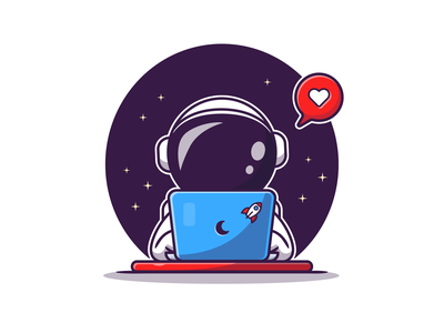 Astro Space 👨🚀🚀✨ stars cosmonaut icon illustration logo cartoon spaceman character mascot coffee cooking drink boba holiday summer technology science laptop space astronaut