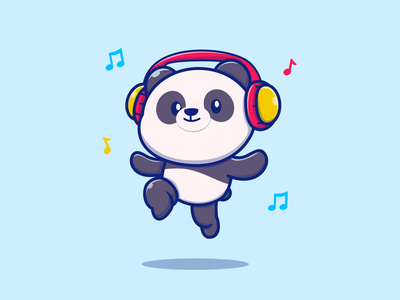 Animals Music 🐼🦊🐊🦆🐖🐹 🎶🎶 notes listening headphone panda fox pig crocodile duck hamster mouse eating seed drum ukulele guitar saxophone flute music pet animal