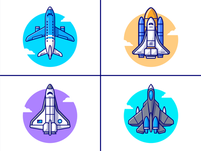 Air Tranportation 🚀✈️🛫🛩️ vacation travel flyer flight sky icon illustration logo cloud spacecraft spaceship aircraft airline airport vehicle planes airplane transportation transport air