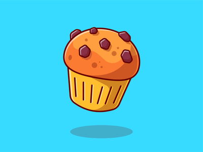 Cookies!!!🍪🥛🧁 menu snack bread dish cupcakes chocolate chips food eat meal cookie milk breakfast cookies logo icon illustration
