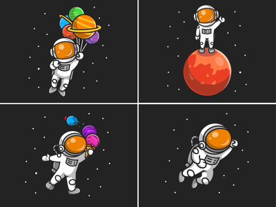 New astronaut suit🧑🏼‍🚀🚀 costume spaceman superhero hero cartoon helmet astronaut suit flying saturnus ice cream moon planet sky space astroman astronaut character logo icon illustration