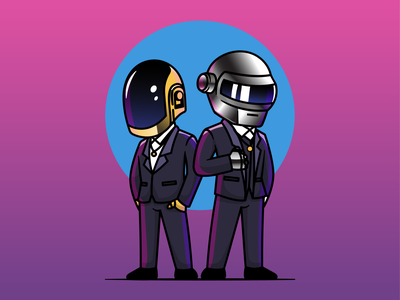 Daft Punk (1993 - 2021) 🙏🙏 viral dance music robotic helmet legend quit group singing song singer band daft punk 1993-2021 daft punk logo icon illustration