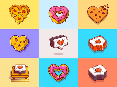 Food love🍕🍪🍩 food illustration cheese cookies unique food food love cute food chocochip chocolate donuts japan sushi pizza fast food cookies snack meal food cute logo icon illustration
