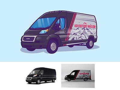 Van Car 🚐💨 deliver travel shipping courier business delivery transport transportation cargo truck logo carwrap custom vehicle icon vector illustration design car van