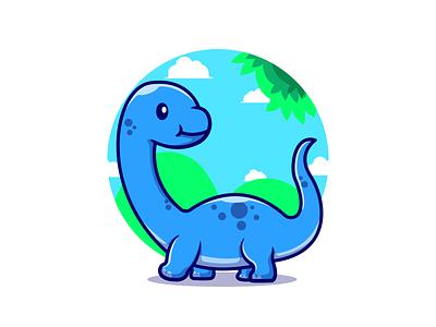 Baby Dino🦕🌿 baby animal cartoon fossil t-rex jurassic park reptile dinosaurs endangered animals extinct animals baby dino animals zoo vector cute logo icon illustration