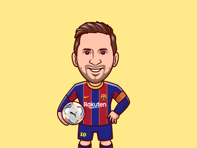 Lionel Messi⚽🏃🏻 football shirt soccer shoes smiley face sad face world cup boy mascot character barcelona sports soccer ball messi lionel messi football cute logo icon illustration