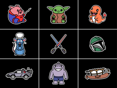 Patch designs🐷🦈🐀🏎️🛶 patch designs boat car helmet baby dino spiderman pig concert stuff light stick shark animal shirt accessories stickers patch patch logo character cute logo icon illustration