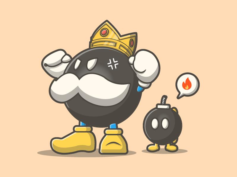 bob omb super mario enemies by catalyst dribbble dribbble