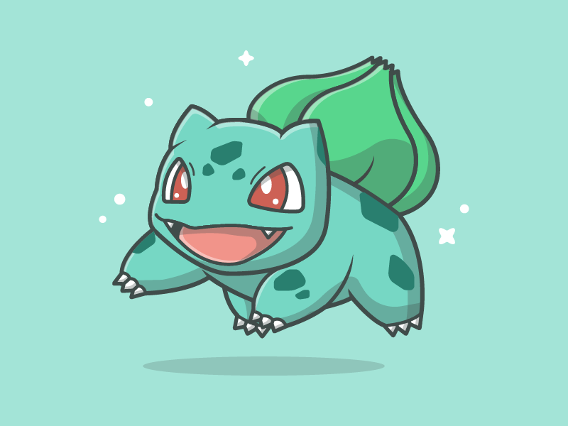bulbasaur by catalyst dribbble dribbble