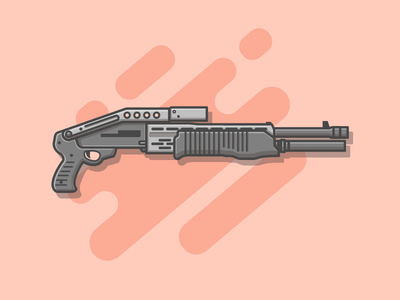 SPAS-12 🔫 vector shots list illustration icon fire gym flat gun dribbbler dribbble spas-12