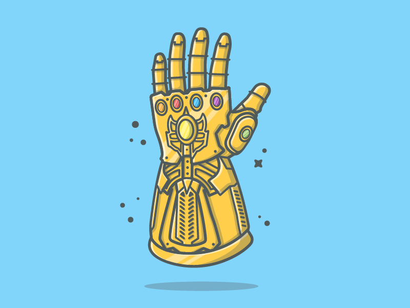 Thanos Hand 👋😁 war vector thanos stone shots infinity illustration icon flat dribbbler dribbble avangers