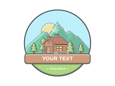 Missing your village? 😉 mountain vector villages minimal logo illustrator illustration icon flat dribbble badges cabin