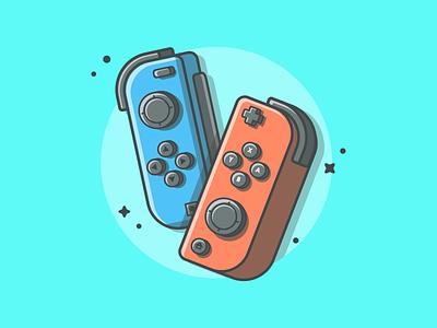 Nintendo controller! 🎮😋 controller vector switch childhood shots nintendo illustration icon game flat memories dribbble
