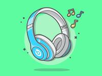Blue headphones! 🎶🎧