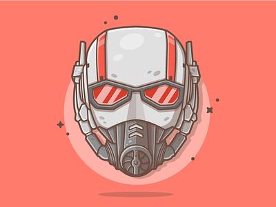 Ant-man! 🐜🐜 marvel ant vector war infinity illustration icon quantum flat dribbble wasp antman